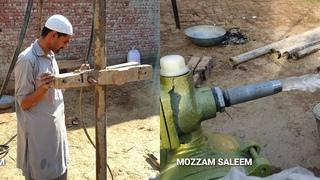 Complete Process  Motor Pump Boring   Motor Pump Lgane Ka Tareqa Village Style  BY MOZZAM SALEEM