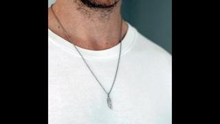 Ожерелье с перьями, цепочка из нержавеющей стали, для женщин и мужчин, простая длинная цепочка