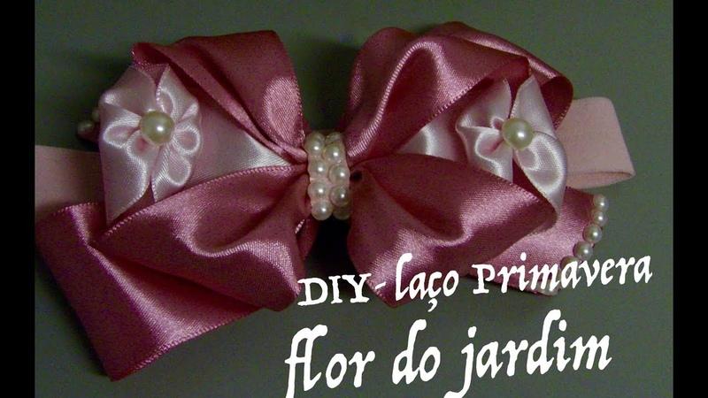 Laço de fita de cetim Primavera Ribbon for girl
