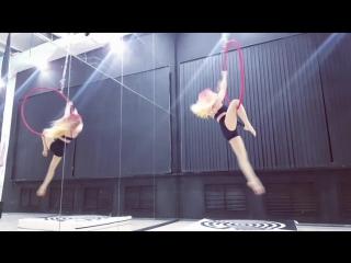 Aerial hoop rendezvous Vyatkina E