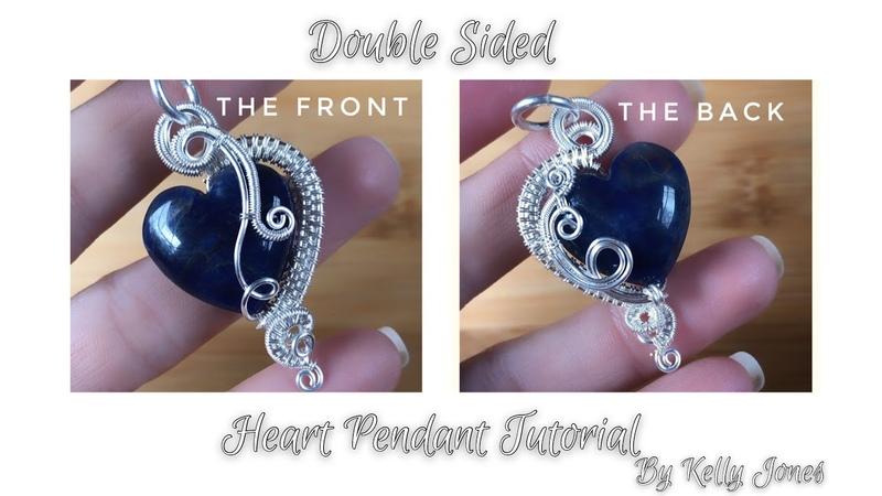 Double sided heart pendant tutorial by Kelly Jones