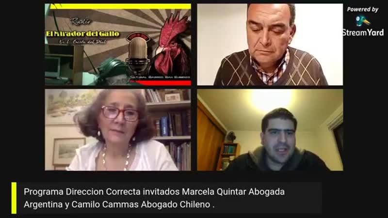 Marcela Quintar Abogada Argentina en Radio el Mirador del Gallo