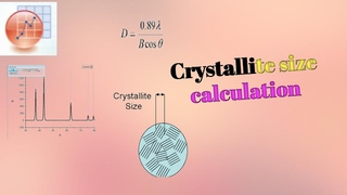 Crystallite size calculation from XRD diffraction data