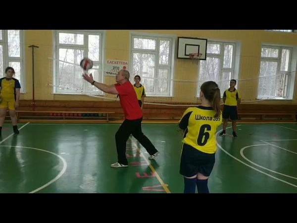 Волейбол - совершенствование передач мяча 7 класс.