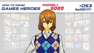 How To Draw Games Heroes - Goro Akechi - Characters & Art - Persona 5