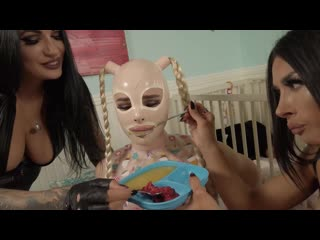 Natalie Mars  Goddess Tangent  Mistress Damazonia - Training the Baby-Gimp 2 Daddys Home
