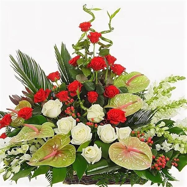 Поздравления живыми цветами