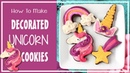 How To Make Buttercream Unicorn Decorated Sugar Cookies