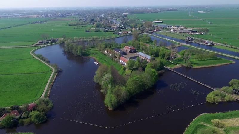 Fort Wierickerschans bij Bodegraven gefilmd met drone