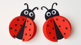 🐞 Божья Коровка Простые поделки из бумаги для детей Летние поделки для детей из бумаги Paper Ladybug