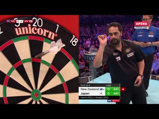 New Zealand vs Japan (PDC World Cup of Darts 2019 / Quarter Final)