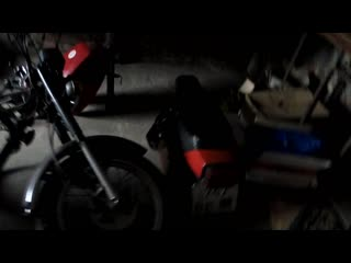 начался ремонт мотоцикла