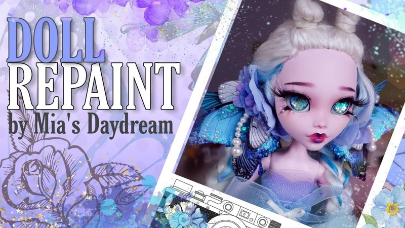 Doll repaint Monster high large 17 Draculara doll