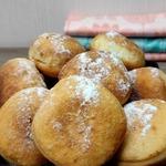 Пончики со сгущенкой без лепки (на кефире)