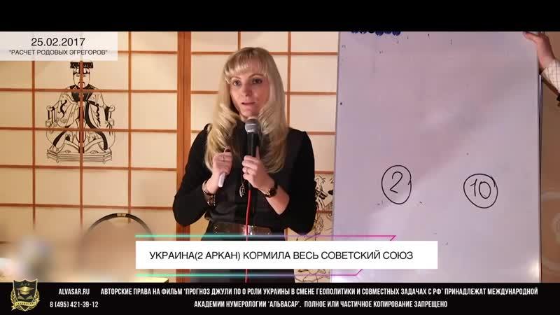 Прогноз от Джули По Россия и Украина расчёт совместных задач