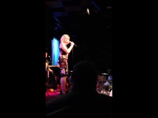 """Megan Hilty sings """"They Just Keep Moving the Line"""" (sick) in L.A."""
