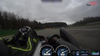 Superkart - Caméra embarquée avec Peter Elkmann sur le Circuit de Spa-Francorchamps