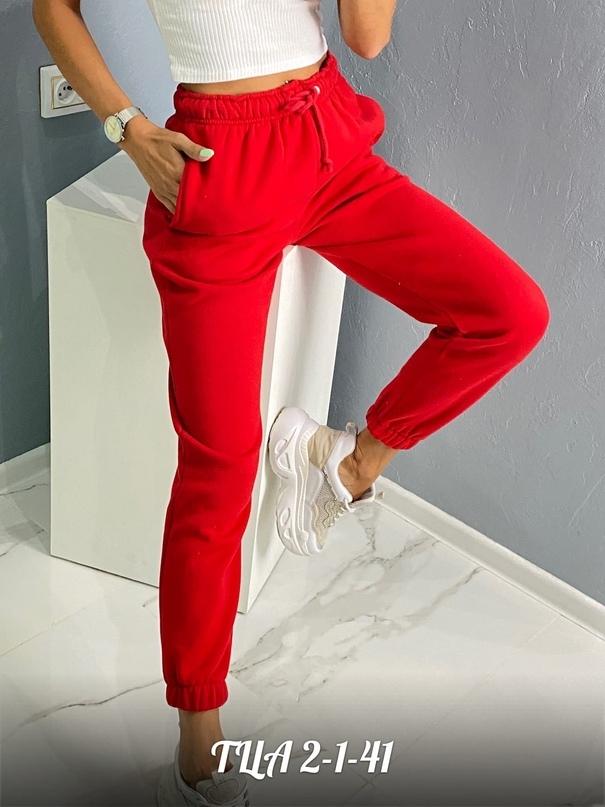 Штаны Спортивные на флисе Размеры S. M. L 95% хлопок 5% эластан ТК Садовод - ТЦ корпус (А) 2-1-41 Little Secret Женская одежда оптом.