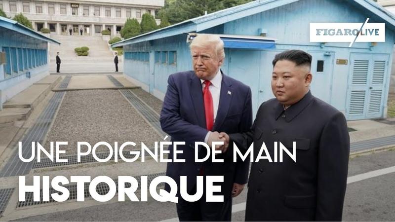 Corée : la poignée de main historique entre Donald Trump et Kim Jong Un