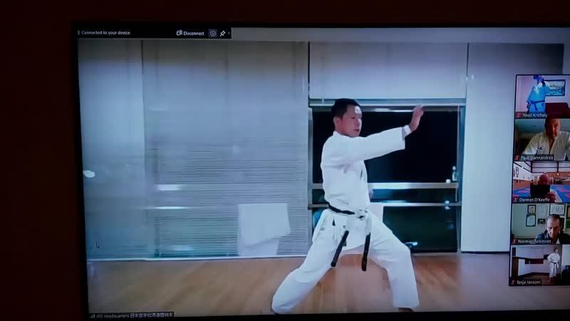 каратэ сётокан тренировка ката Хачимон сэнсэя Такуя Макита 5 Дан JKS из Японии 29 08 20
