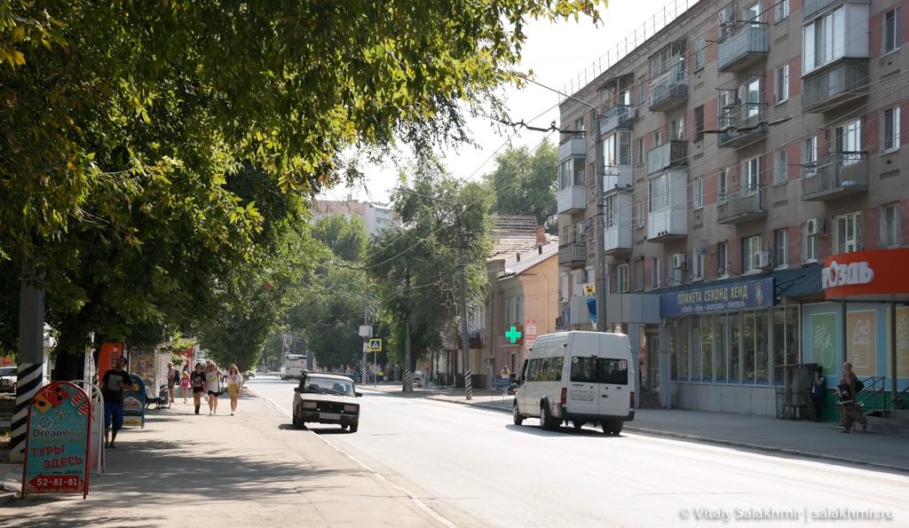 Улица Горького в Энгельсе, путешествие 2020