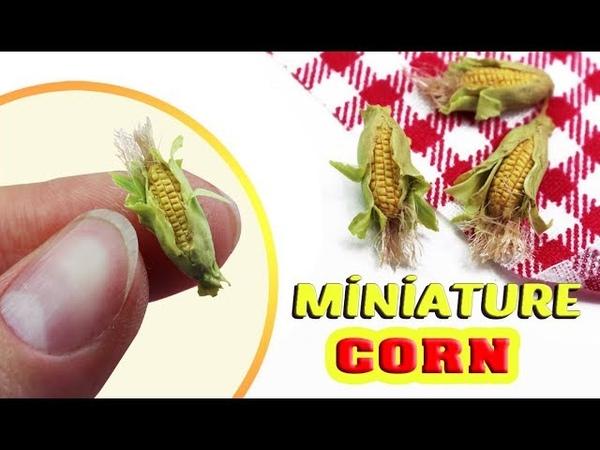 Miniature Corn On The Cob Polymer Clay Tutorial Miniature Food