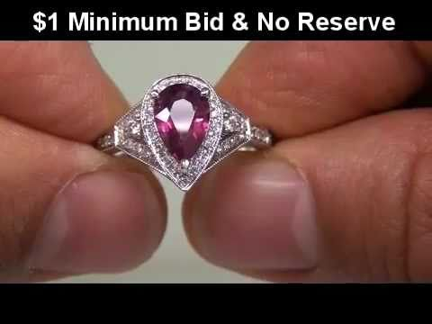 EXTREMELY RARE - Highly Collectable Padparadscha Sapphire Diamond Ring