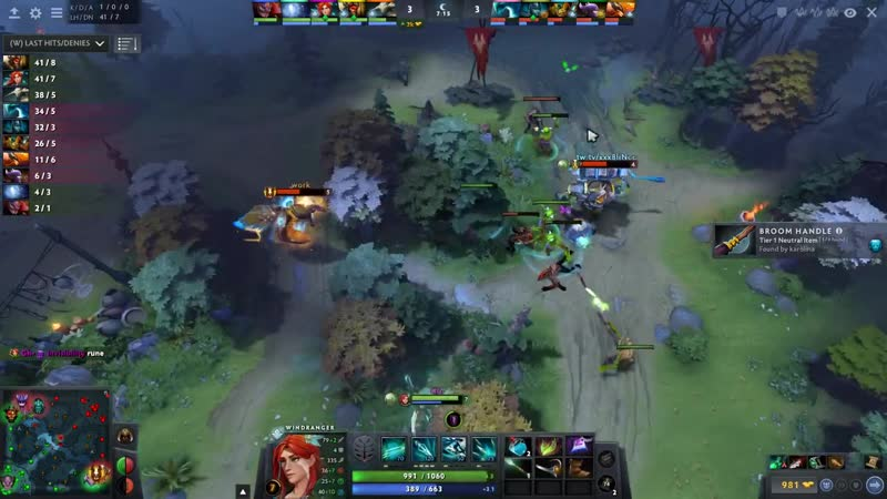 Miracle Back to Mid with His Signature Hero Shadow Fiend and Windranger Arcana