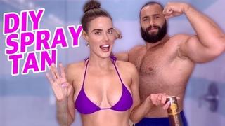 [#My1] DIY Tanning at Home w/ Miro/Rusev! | Lana WWE | CJ Perry
