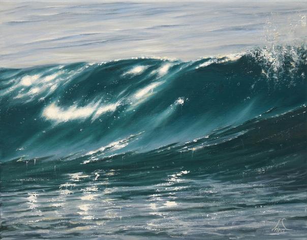 Ирина Камберленд (Irina Cumberland , создала серию картин «Океаны на пластике», на холстах из переработанного пластика. Для осознания человечеством огромной проблемы пластикового загрязнения, в
