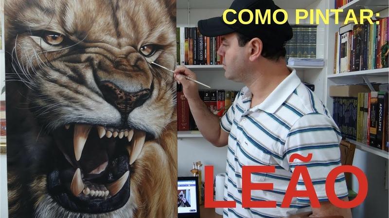 Como Pintar Um Leão Passo a Passo