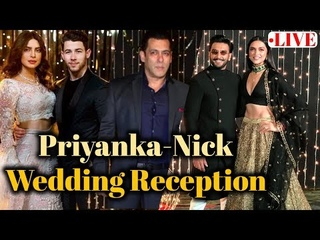 LIVE: Priyanka Chopra & Nick Jonas GRAND Wedding Reception   Salman, Katrina   Full Video