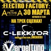 30.03 - :ELECTRO FACTORY: [C-LEKKTOR (Mexico), VERGELTUNG, REPUS TUTO MATOS, the PULSAR + гости] @ клуб АрктикА