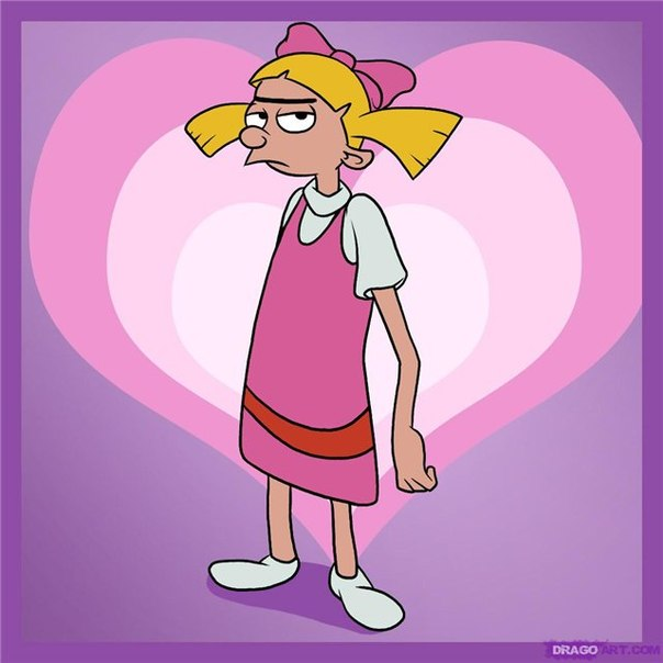 hey arnold helga - HD 1100×1100