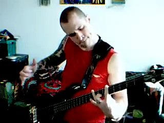 Middle Eastern Slap Strumming on a Cort Curbow Bass