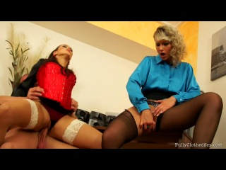 Fullyclothed Sex - Samantha Jolie & Mea Melone - Rewarding The Help With Some Fully Clothed Fucking