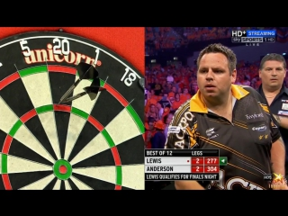 Adrian Lewis vs Gary Anderson (2016 Premier League Darts / Week 15)