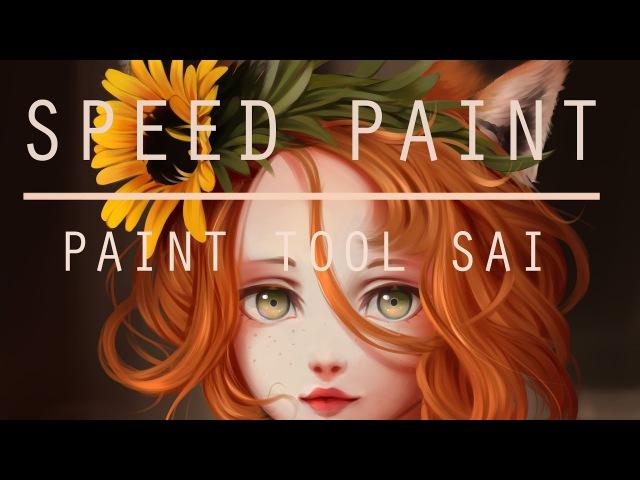 Speed paint- Paint tool sai- Kitsune- Lulybot