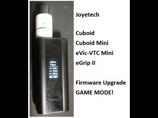 Joyetech Cuboid 150 Firmware Update  - Game Mode!