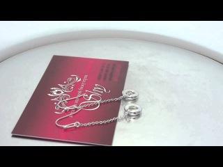 """Серьги серебряные """"Нежные объятия"""" Tiffany & Co m7ea"""