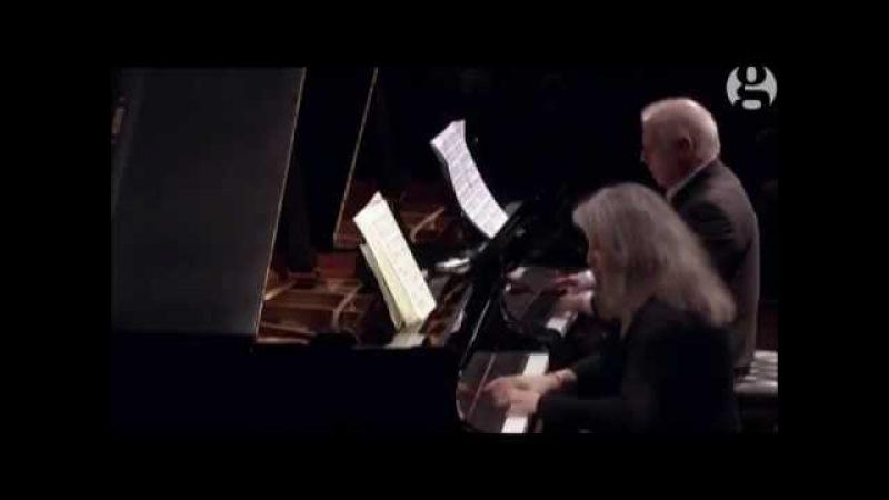 Моцарт Соната для 2 ф но Ре мажор K448 М Аргериx Д Баренбойм Martha Argerich and Barenboim 2015 Mozart's Sonata K448 in D