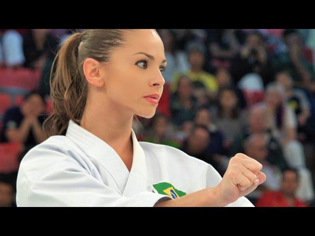 4K Powerful and beautiful Karate from Brazilブラジルの空手女神
