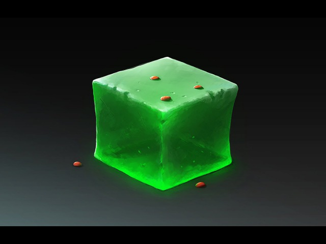 JELLY CUBE Drawing Material in Photoshop