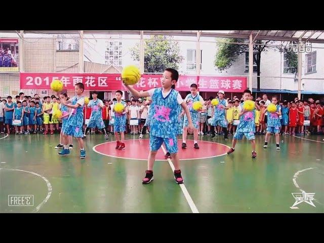 F仨 F3 Elementery School Freestyle Basketball Performance