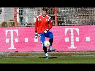 Manuel Neuer - Pepe Reina - Tom Starke - Goalkeeper Training   Torwarttraining FC Bayern Munich