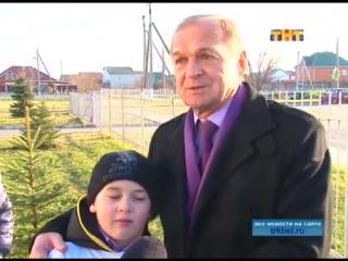 Высадка елочек в школе №31 Родниковского поселения