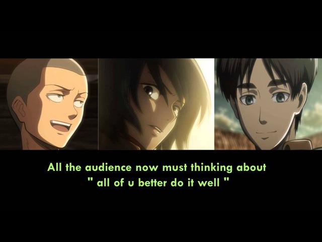 Attack on titan voice actors singing opening Eren Mikasa Connie Yuki Kaji Yui Ishikawa Hiro Shimono