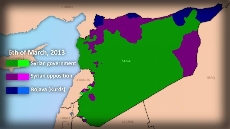 Динамика войны в Сирии март 2011 июнь 2015