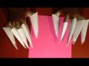 Как сделать когти из бумаги. Когти Росомахи.