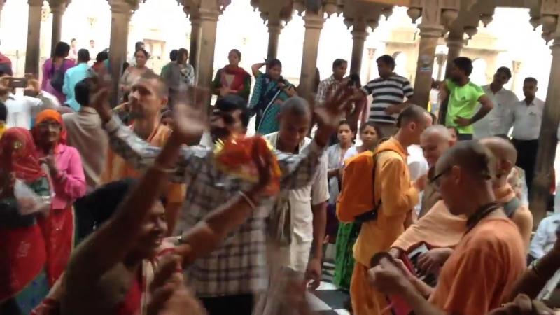 Harinama in Varsana temple